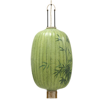 HKliving traditional lantern bamboo painting oval XL