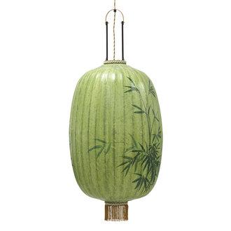 HKliving Traditionele lantaarn bamboe schilderij ovaal XL