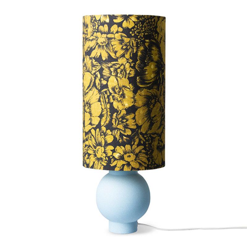 HKliving-collectie Lampvoet keramiek ijsblauw