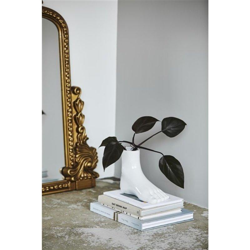 Nordal-collectie ARUBA foot, vase, white