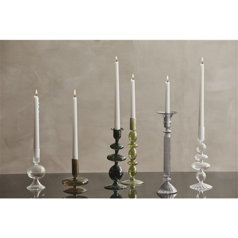 Nordal-collectie ERISKA candleholder, dark green
