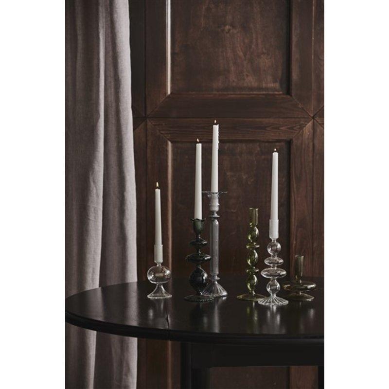 Nordal-collectie ERISKA candleholder, transp. black