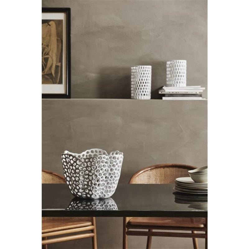 Nordal-collectie WAKE deco holder, L, white