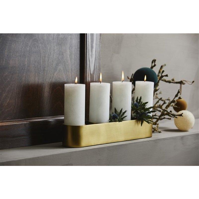 Nordal-collectie Kandelaar GILI voor 4 kaarsen goud L