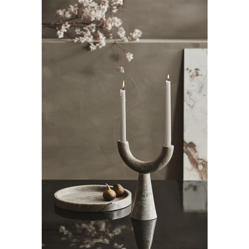 Nordal-collectie RIF candle holder, marble,  f/2 candles