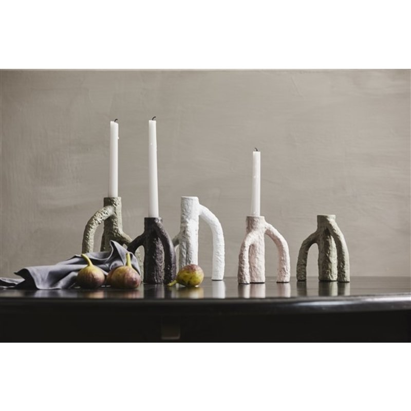 Nordal-collectie MAHE candle holder, white, large