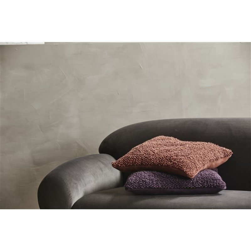 Nordal-collectie LYRA cushion cover,S,knitted, terracotta