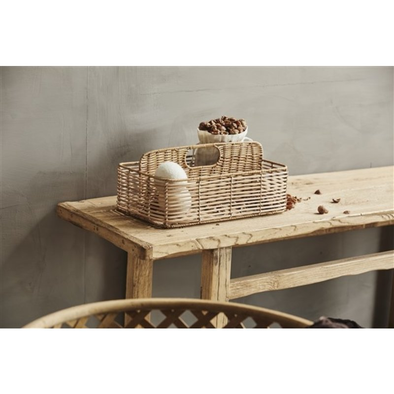 Nordal-collectie ZADAR rattan holder, 2 dividers, nature