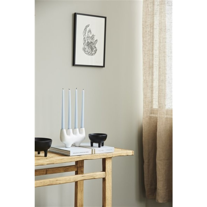 Nordal-collectie SEIL candle holder, 4 candles, white
