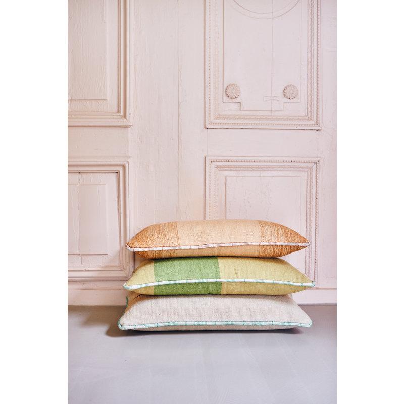 HKliving-collectie Sierkussen handgeweven groen (38x74)