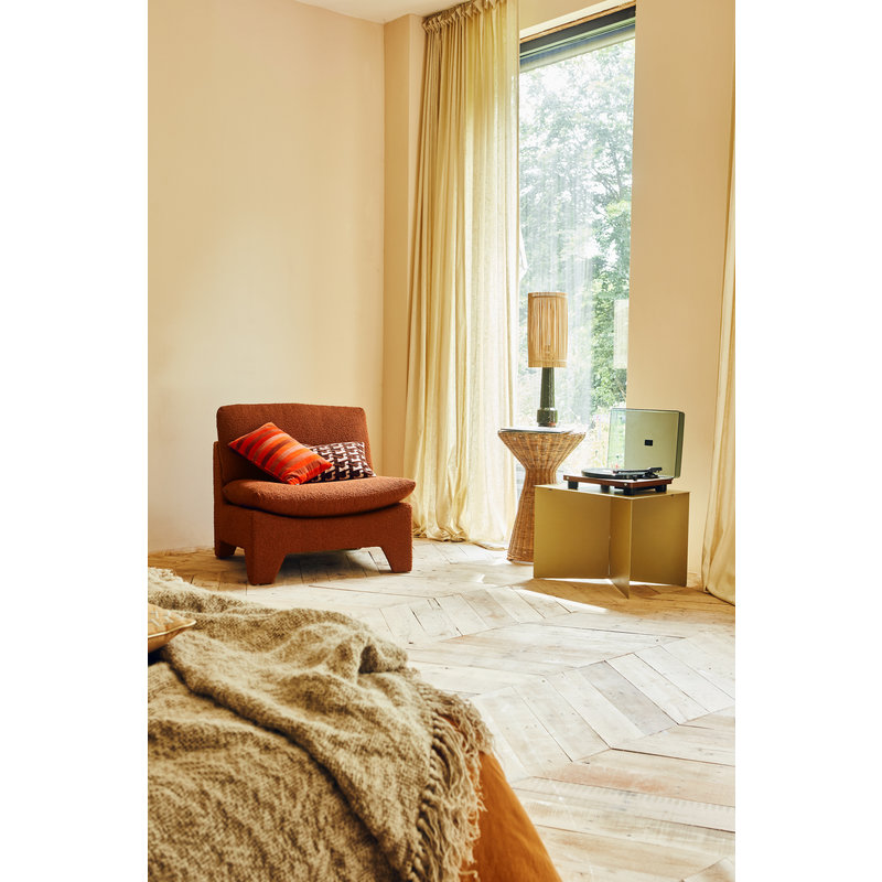HKliving-collectie Retro lounge ottoman boucle brick