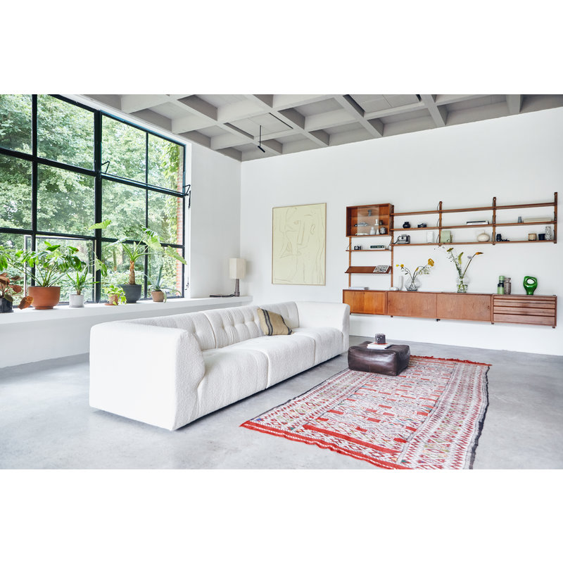 HKliving-collectie vint couch: element middle, boucle, cream