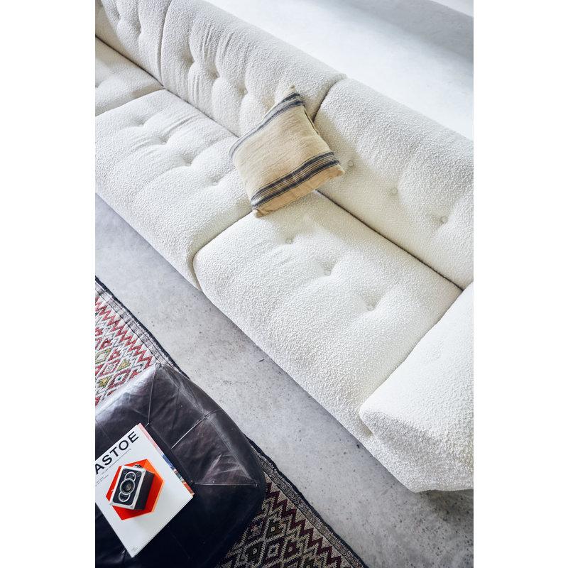 HKliving-collectie Vint bank element links 1,5-seat boucle creme