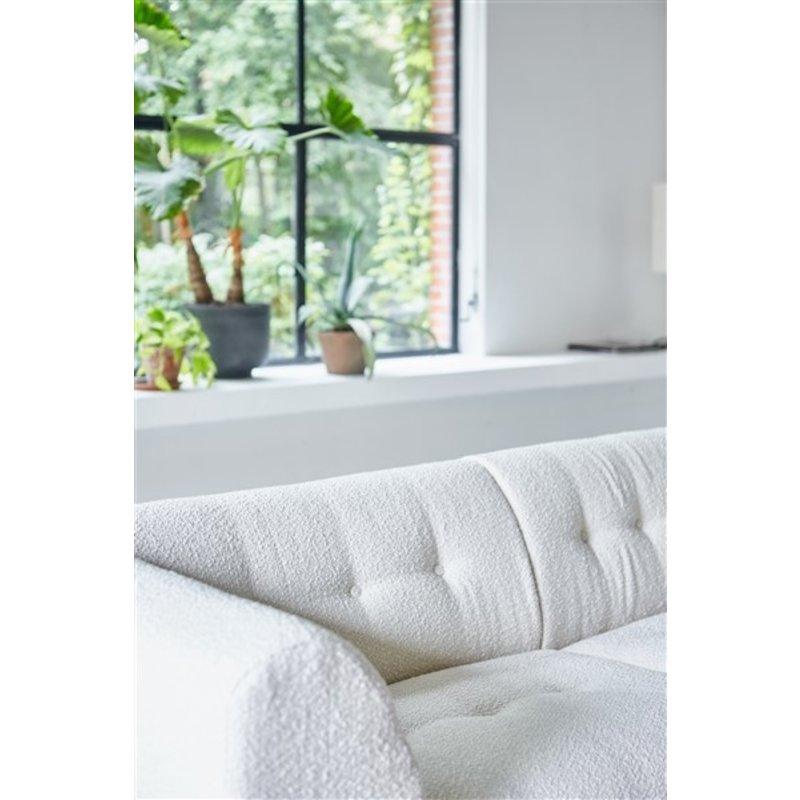 HKliving-collectie vint couch: element left 1,5-seat, boucle, cream