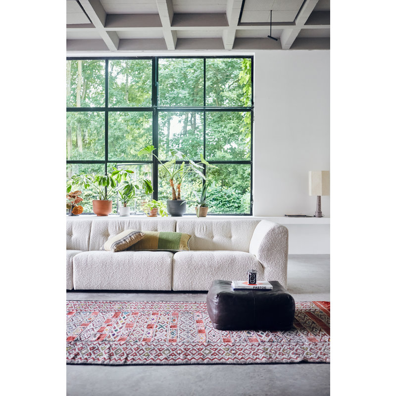 HKliving-collectie vint couch: element right 1,5-seat, boucle, cream