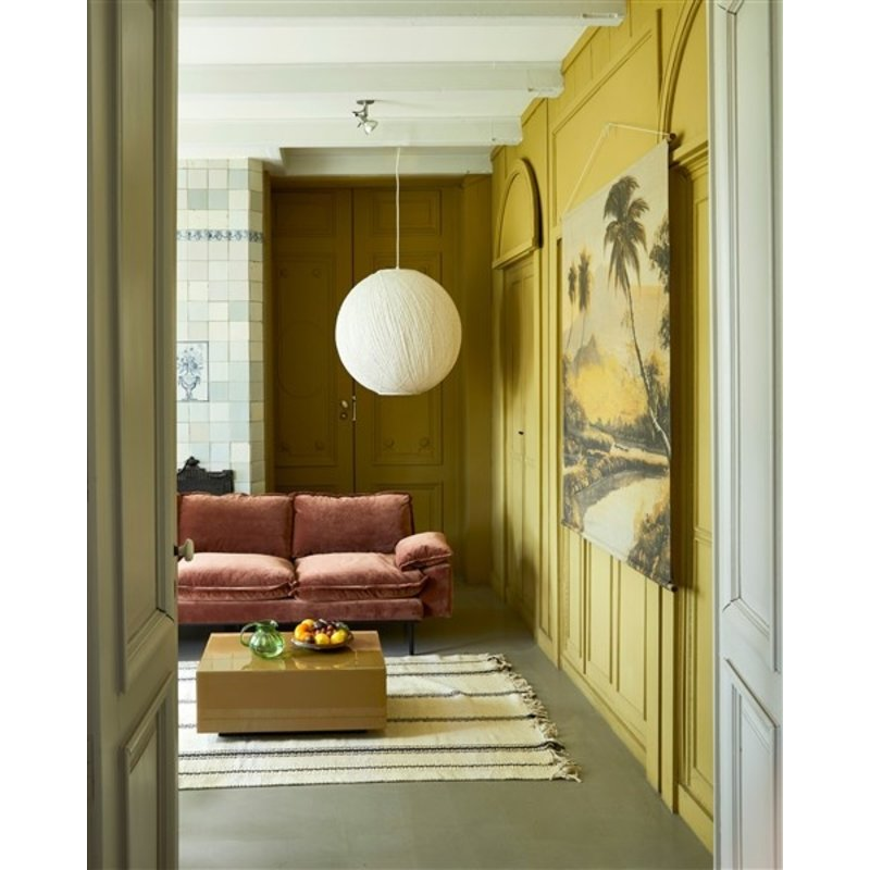 HKliving-collectie retro sofa: 4-seats, royal velvet, magnolia