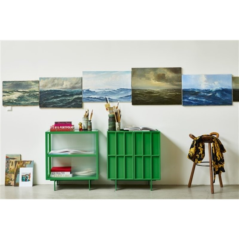 HKliving-collectie cupboard with ribbed glass, fern green