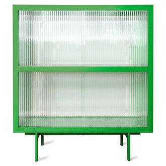 HKliving Vitrinekast met geribbeld glas  fern groen