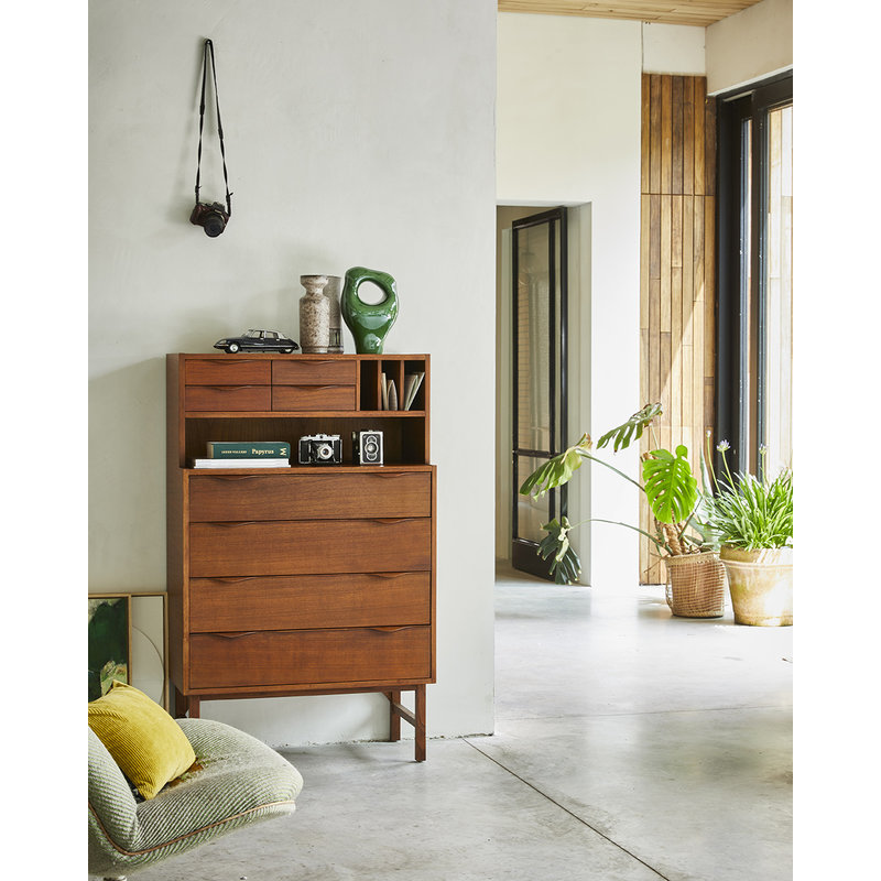 HKliving-collectie wooden secretairy grey/blue