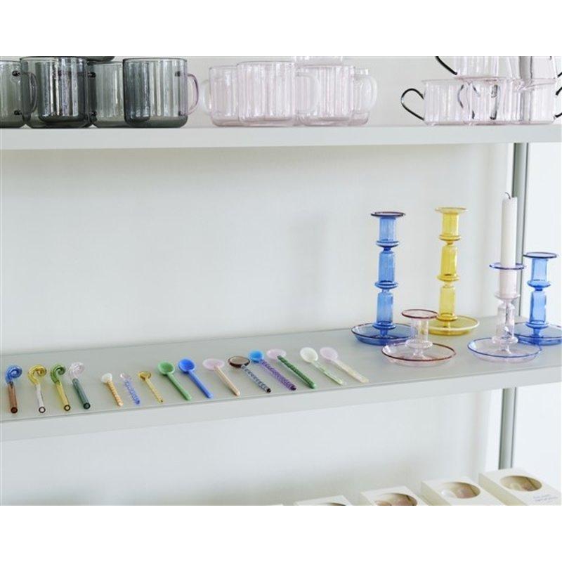 HAY-collectie Glazen lepels 17,5 cm - set van 2