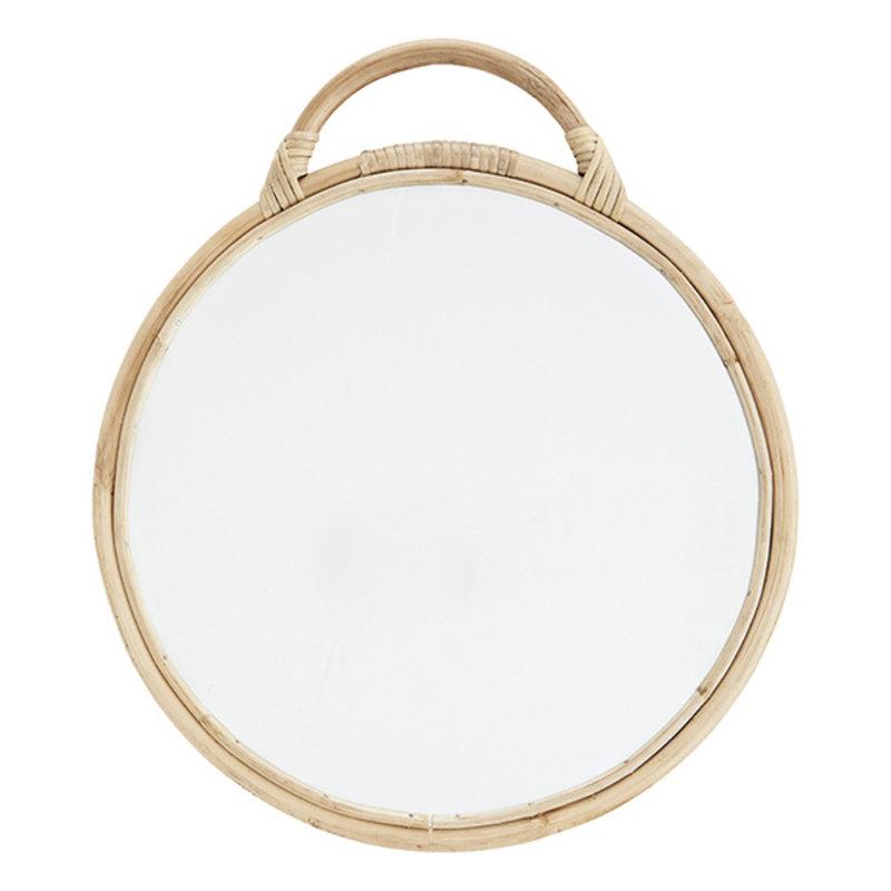 Madam Stoltz-collectie Ronde spiegel met bamboe