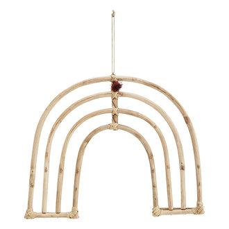 Madam Stoltz Bamboe hanger regenboog