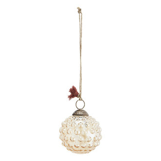 Madam Stoltz Hanging glass ball w/ dots