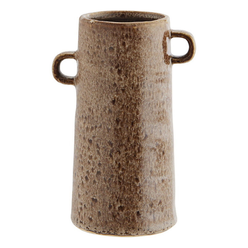 Madam Stoltz-collectie Aardewerk vaas licht bruin - 18 cm