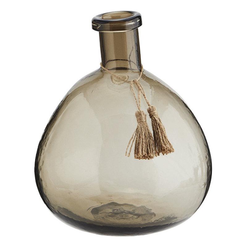 Madam Stoltz-collectie Glass vase w/ tassels