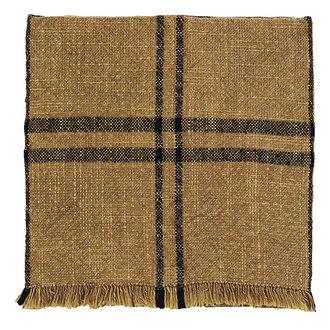Madam Stoltz Checked kitchen towel w/ fringes