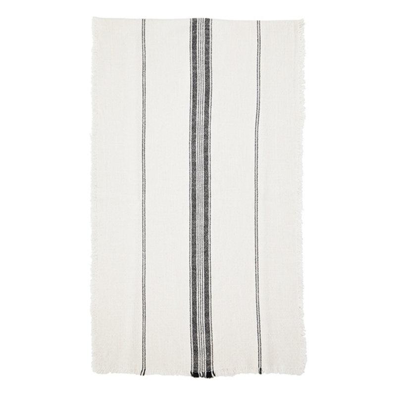 Madam Stoltz-collectie Striped runner w/ fringes