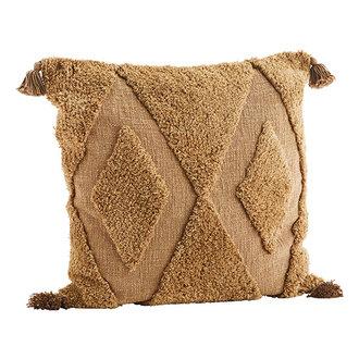 Madam Stoltz Tufted kussenhoes 60x60 cm indian tan