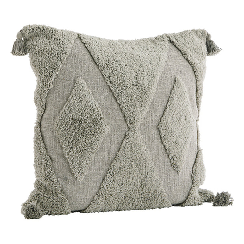 Madam Stoltz-collectie Cushion cover w/ tufting
