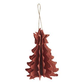 Madam Stoltz Papieren hanger kerstboom oranje