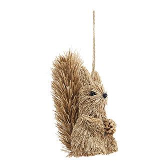 Madam Stoltz Eekhoorn hanger van gras - 14 cm