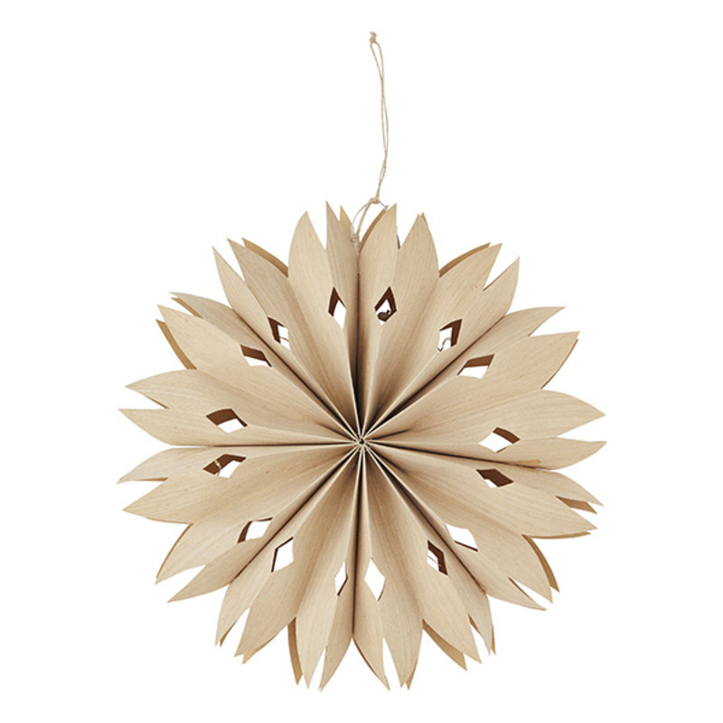 Madam Stoltz-collectie Paper star w/ lights