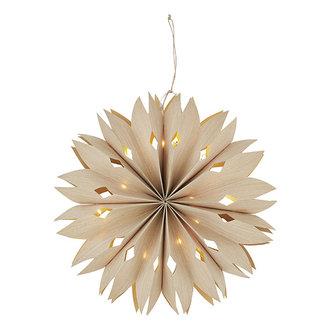 Madam Stoltz Papieren ster met verlichting - 40 cm