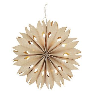 Madam Stoltz Papieren ster met verlichting - 50 cm