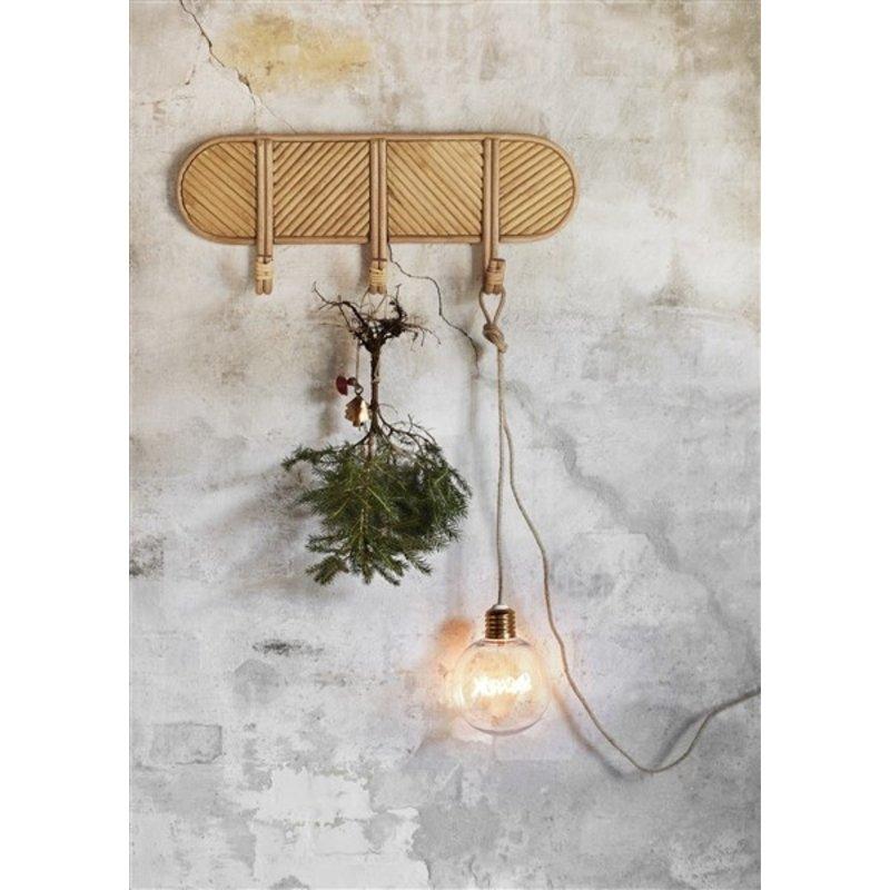 Madam Stoltz-collectie Jute lichtsnoer met tekst 'Xmas' in gloeidraad