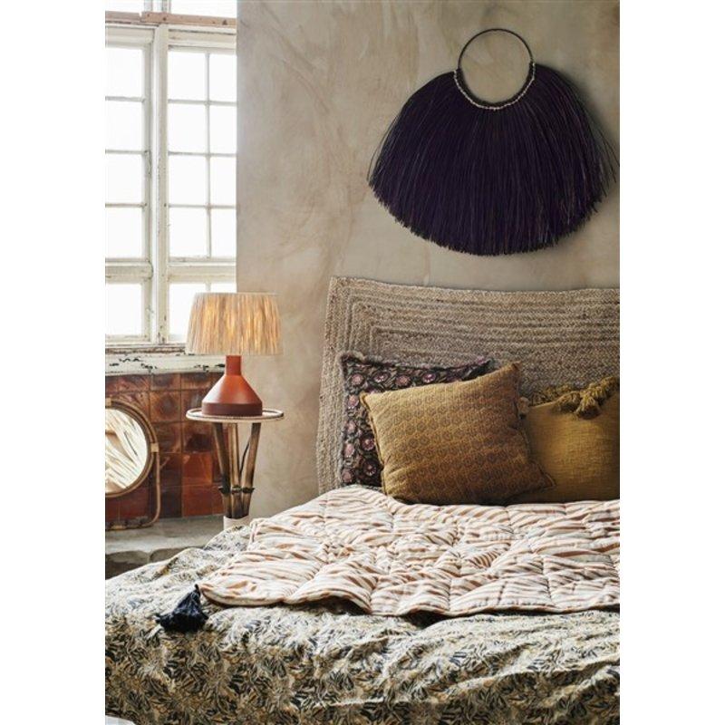 Madam Stoltz-collectie Kussenhoesje met print zwart/indian tan/roest/beige