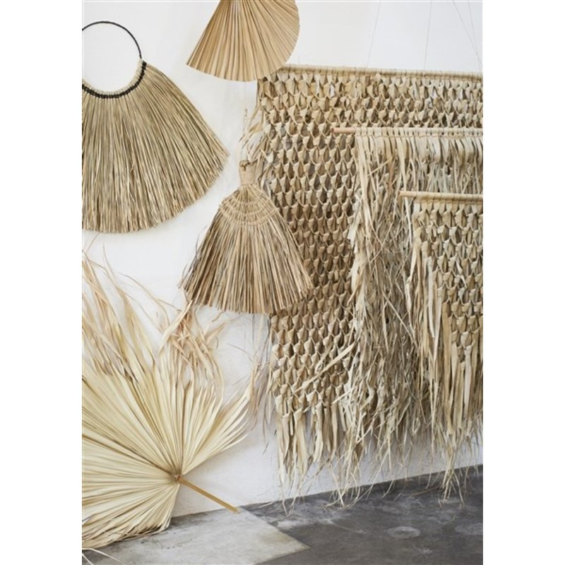 Madam Stoltz-collectie Zeegras wanddecoratie naturel - 110 cm