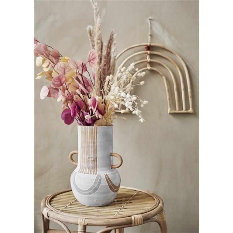 Madam Stoltz-collectie Droogbloemen roze/creme