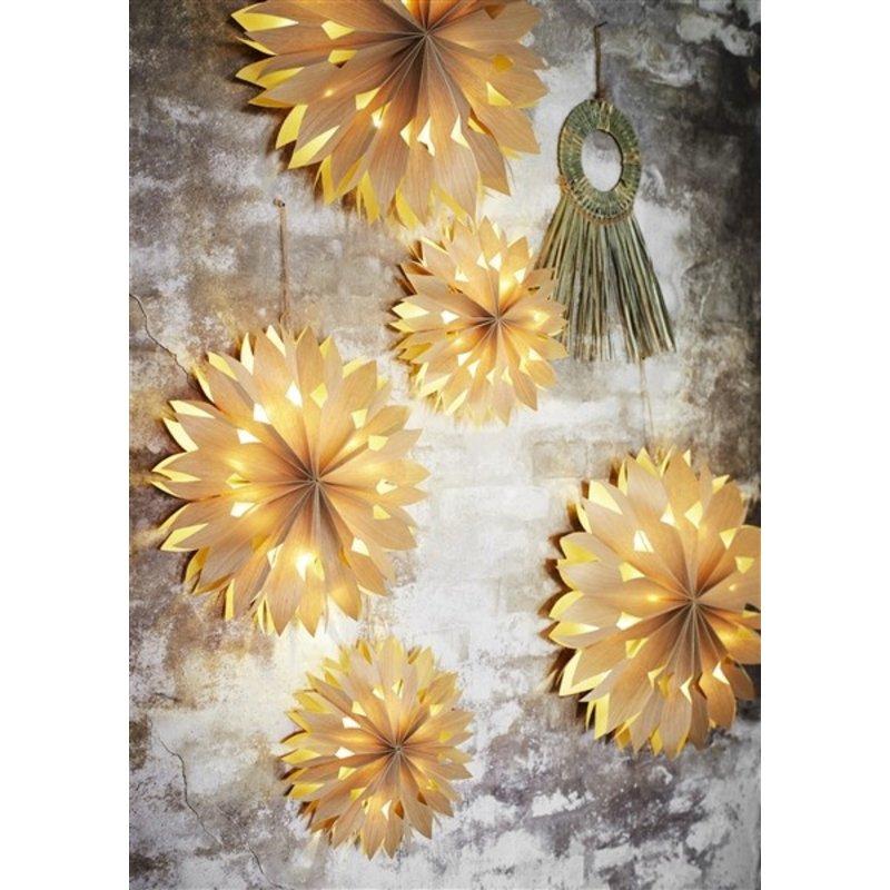Madam Stoltz-collectie Papieren ster met verlichting - 40 cm