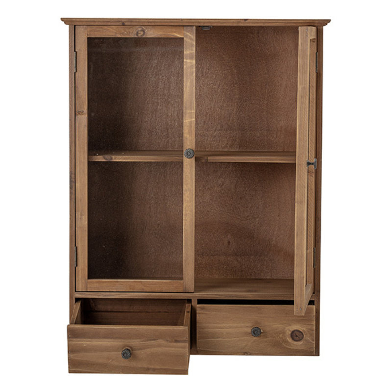 Bloomingville-collectie Wandkastje Alfie met 2 deuren en lades