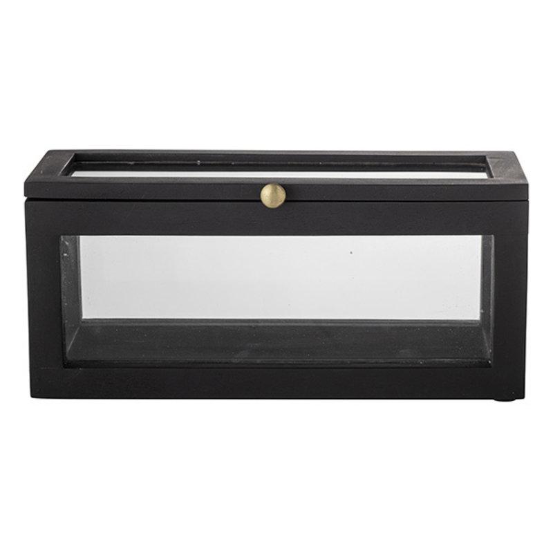 Bloomingville-collectie Gore Box w/Lid, Black, Mango