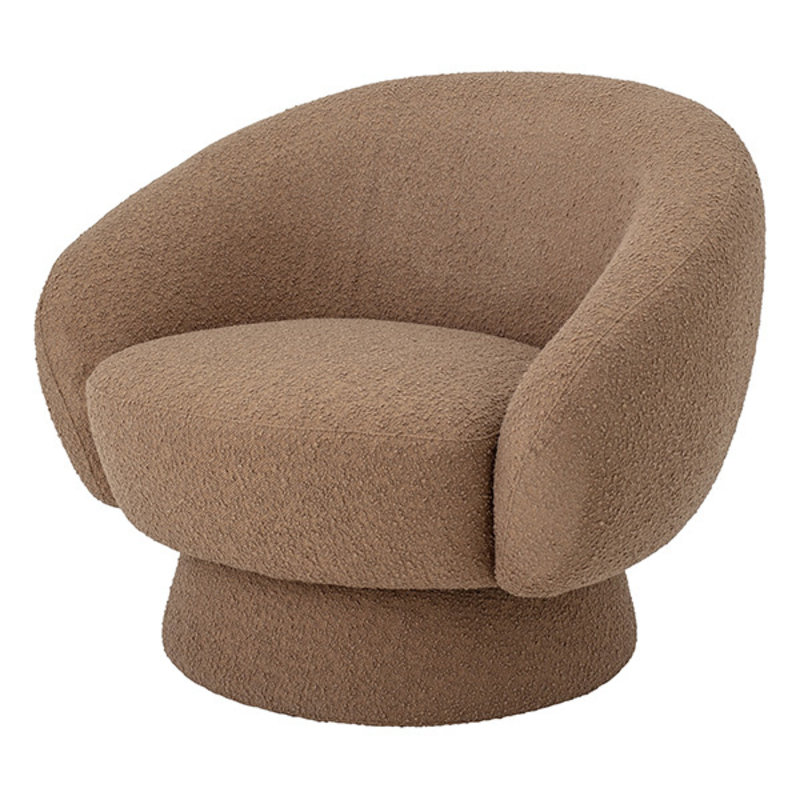 Bloomingville-collectie Ted Lounge Chair, Brown, Polyester