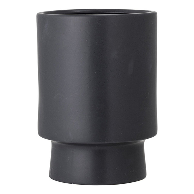 Bloomingville-collectie Mac Flowerpot, Black, Stoneware