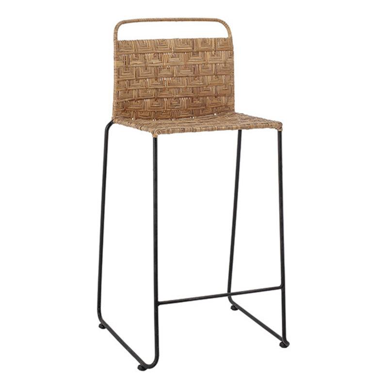 Bloomingville-collectie Gunnel Bar Chair, Nature, Rattan