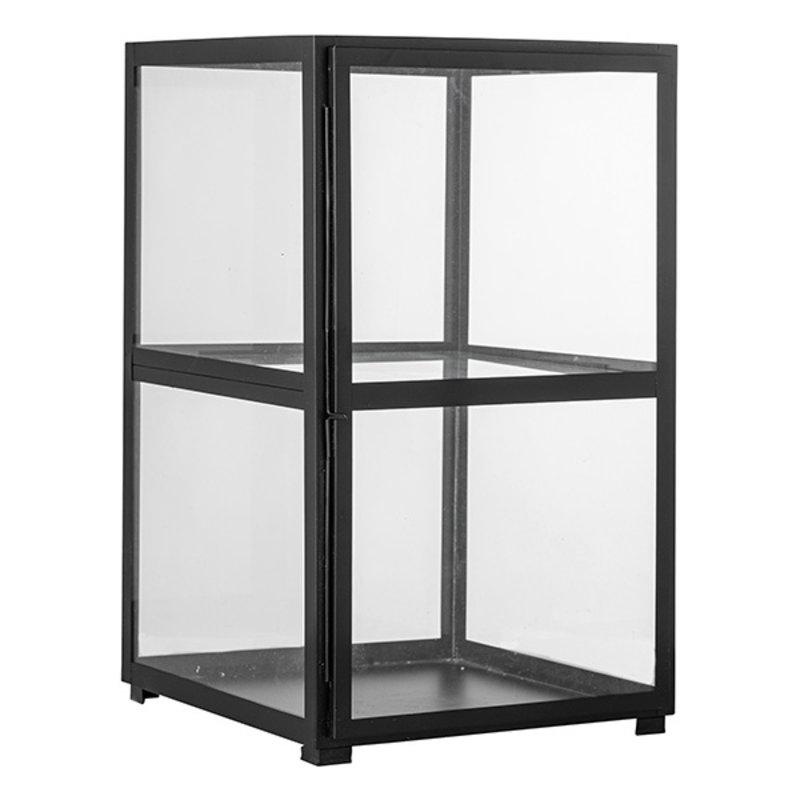 Bloomingville-collectie Metalen vitrinekastje Robat zwart