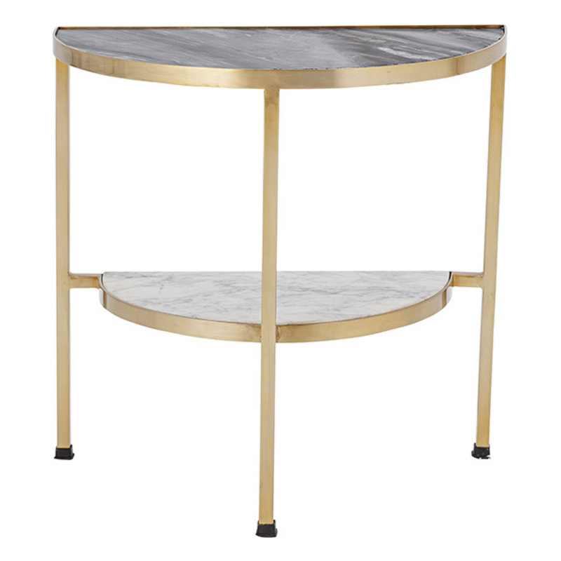 Bloomingville-collectie Clint Sidetable, Black, Marble